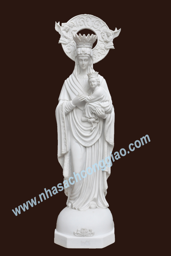 Tượng Đức Mẹ Hằng Cứu Giúp 55cm